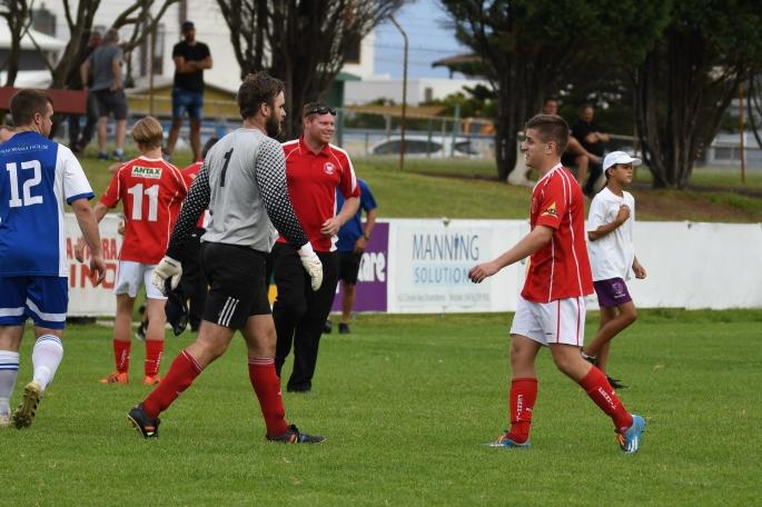 Ferhill v Tarrawanna goal celebration